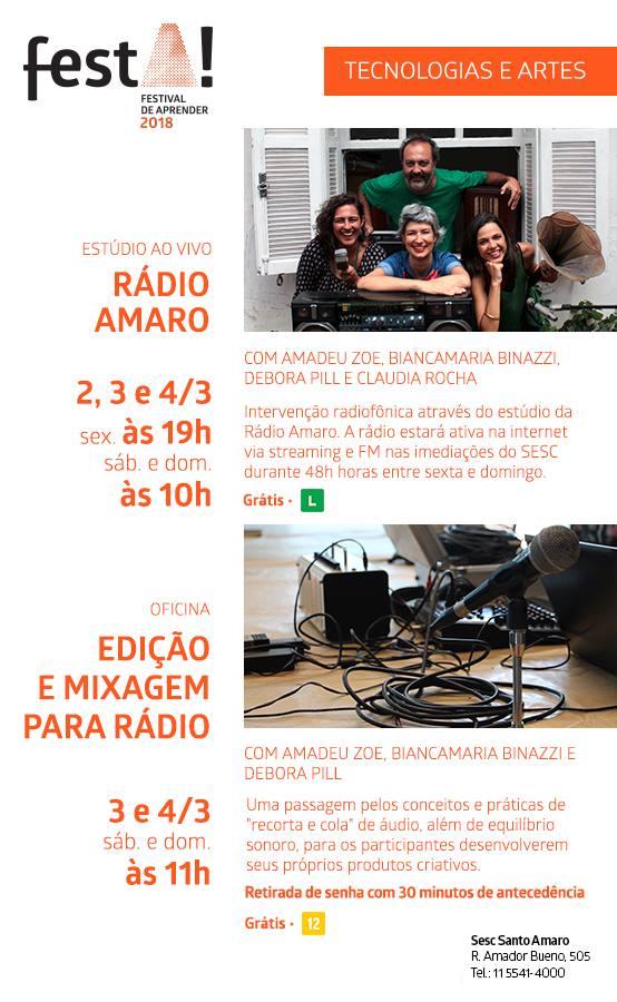 Flyer Radio Amaro e Curso Radio
